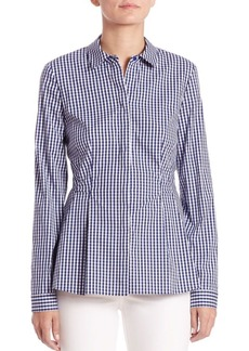 Lafayette 148 New York Fletcher Check-Print Shirt