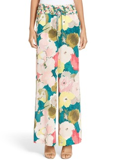 Lafayette 148 New York Floral Silk Drawstring Pants