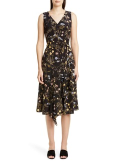 Lafayette 148 New York Floral Print Silk Dress