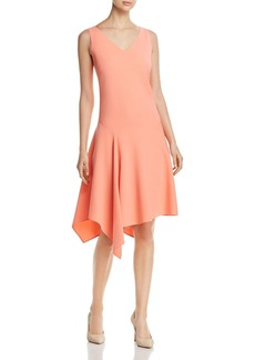 Lafayette 148 New York Floretta Asymmetric Flutter-Hem Dress