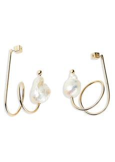 Lafayette 148 New York Fluid Baroque Pearl Earrings