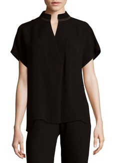 Lafayette 148 New York Fluid Silk Blouse