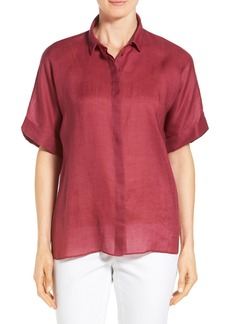 Lafayette 148 New York 'Fontana' Short Sleeve Blouse