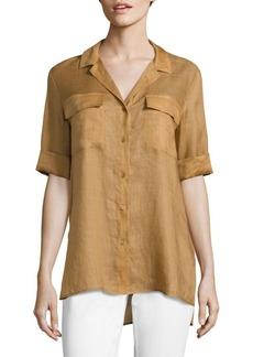 Lafayette 148 New York Fran Gemma Cloth Blouse