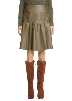 Lafayette 148 New York Fran Lightweight Plonge Lambskin Leather Skirt