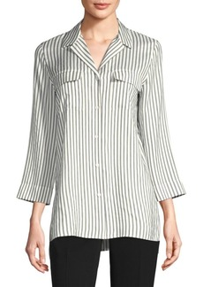 Fran Striped Silk Blouse