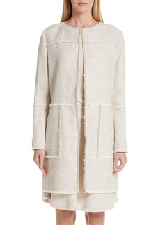 Lafayette 148 New York Francine Relaxed Tweed Topper