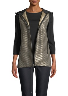 Lafayette 148 Francisco Honeycomb-Knit Novelty Vest