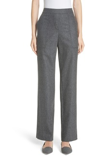 Lafayette 148 New York Fulton Elastic Waist Stretch Wool & Cashmere Pants