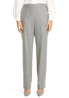 Lafayette 148 New York Fulton Elastic Waist Wool Blend Pants