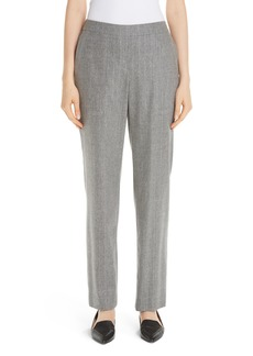 Lafayette 148 New York Fulton Stretch Flannel Wool & Cashmere Pants