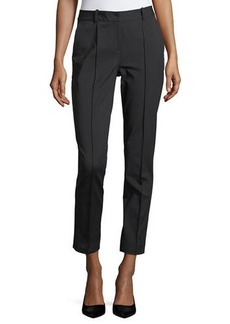 Lafayette 148 New York Fundamental Bi-Stretch Steamed Pant w/ Back Slit