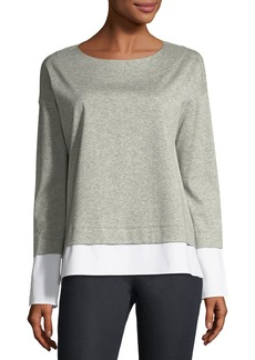 Lafayette 148 New York Gabriel Seemingly Layered Heather Top