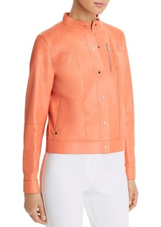 Lafayette 148 New York Galicia Cropped Leather Jacket