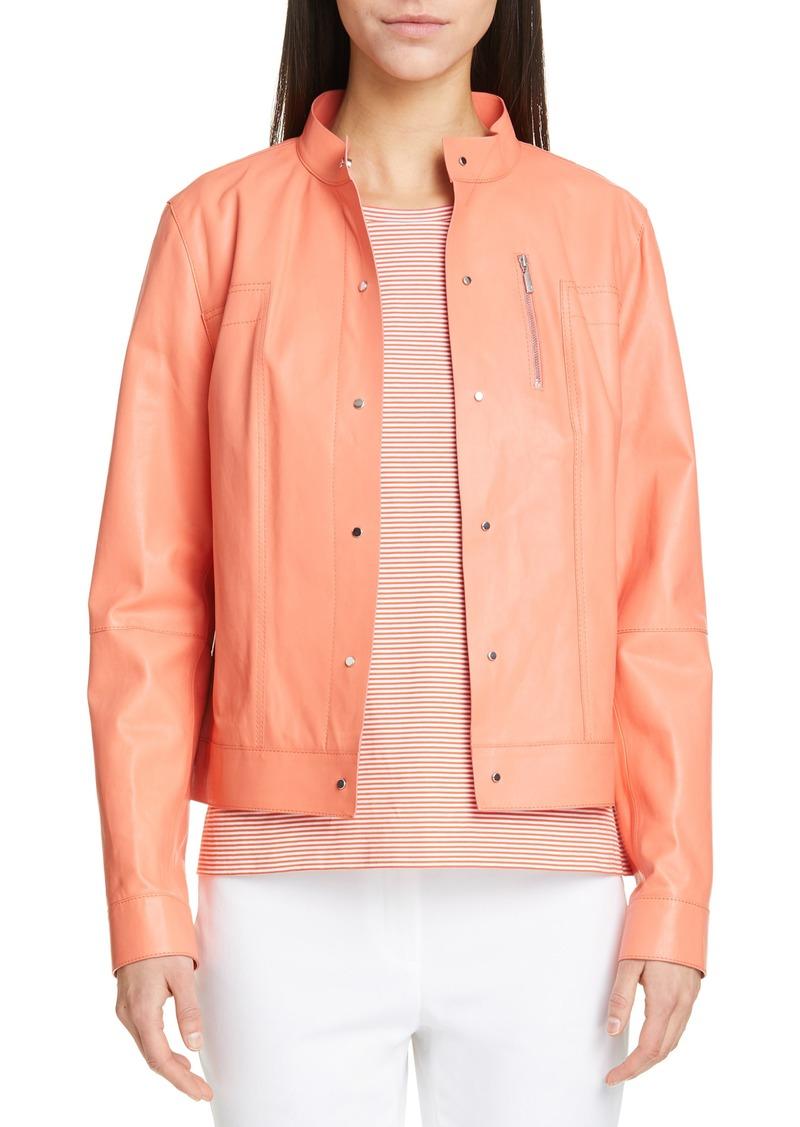 Lafayette 148 New York Galicia Leather Jacket