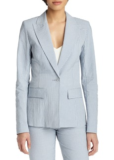 Lafayette 148 Garrett Seersucker One-Button Jacket