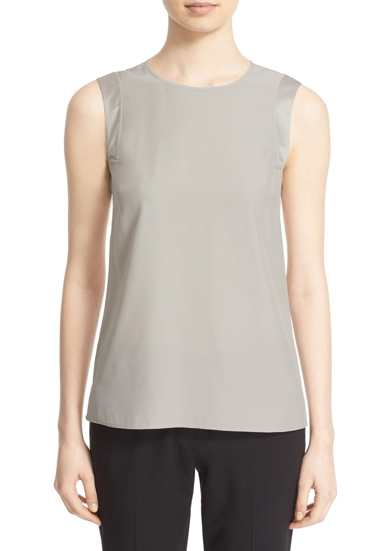 Lafayette 148 New York 'Gayle' Matte Silk Tank (Regular & Petite)