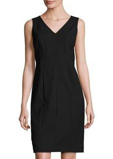 Lafayette 148 New York Geneva V-Neck Sleeveless Sheath Dress