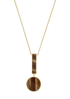 Lafayette 148 New York Geometric-Drop Pendant Necklace