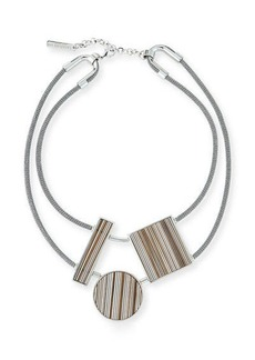 Lafayette 148 New York Geometric-Station Statement Necklace