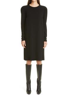 Lafayette 148 New York Gia Long Sleeve Finesse Crepe Shift Dress