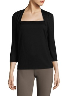 Giada Quarter-Sleeve Top