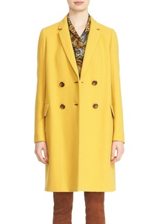 Lafayette 148 New York 'Gianna' Culture Crepe Coat