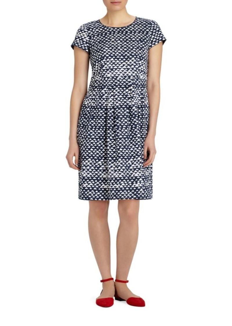 Lafayette 148 Gina Printed Stretch Dress