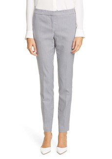 Lafayette 148 New York Gingham Slim Pants