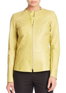 Lafayette 148 New York Glazed Maris Leather Jacket