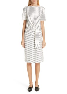 Lafayette 148 New York Glendora Knotted Stripe Dress