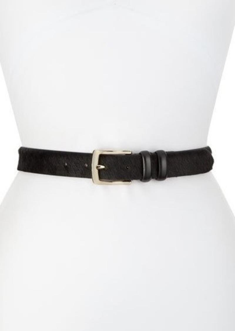 Lafayette 148 New York Golden-Buckled Textured Leather Belt