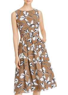 Lafayette 148 New York Gracie Belted Printed Dress