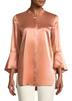 Lafayette 148 New York Graydon Luxe Charmeuse Blouse