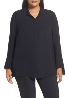 Lafayette 148 New York Graydon Silk Blouse (Plus Size)