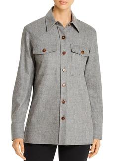 Lafayette 148 New York Greyson Cashmere-Blend Shirt