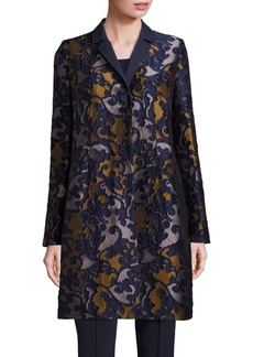 Lafayette 148 New York Guenever Baroque Jacquard Coat