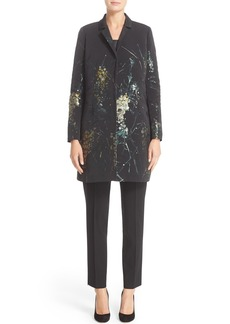 Lafayette 148 New York 'Guenever' Print Faille Notch Collar Jacket