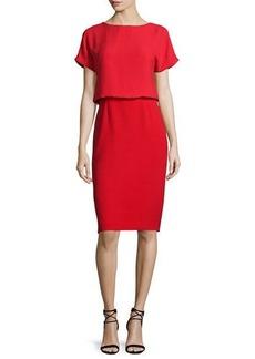 Lafayette 148 New York Gwen Short-Sleeve Popover Dress