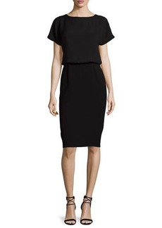 Lafayette 148 New York Gwen Short-Sleeve Popover Dress