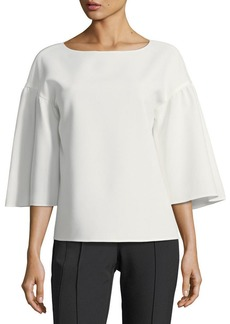 Lafayette 148 New York Gwendolyn Finesse-Crepe Blouse