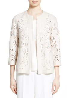 Lafayette 148 New York Hadara Embroidered Cutout Jacket