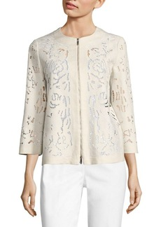 Lafayette 148 New York Hadara Embroidered Linen Jacket