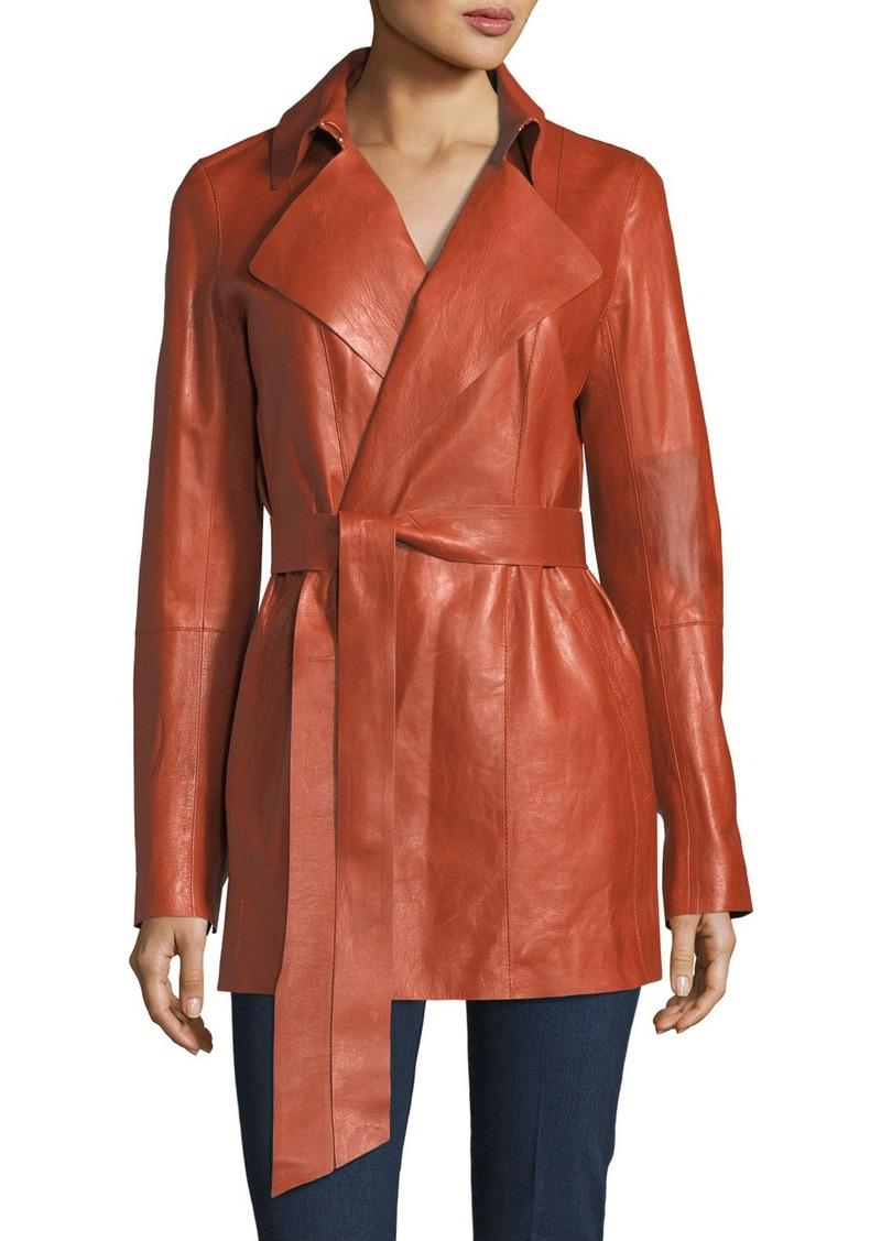 6b0213c9d092 Lafayette 148 Lafayette 148 New York Hadley Leather Trench Coat ...