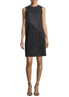 Lafayette 148 New York Hailey Sleeveless Suede Shift Dress