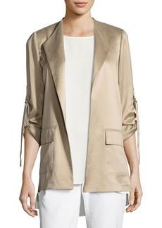 Halden Open Front Silk Jacket