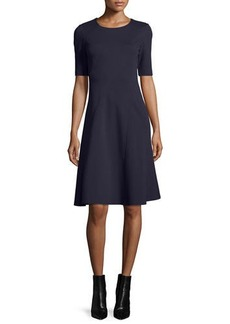 Lafayette 148 New York Half-Sleeve Fit-and-Flare Dress