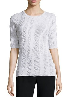 Lafayette 148 New York Half-Sleeve Round-Neck Top