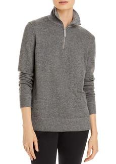 Lafayette 148 New York Half Zip Turtleneck Sweater