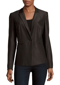 Lafayette 148 Halle Textured Notch-Lapel Jacket